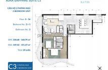 Căn hộ Waterina Suites Quận 2 bán, diện tích 169m2, tầng 5, 2PN