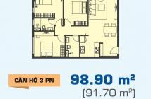 Bán gấp căn hộ Sunrise City View 98m2, 3PN, giá 3,65 tỷ. Tháng 10/2018 giao nhà, 0909802822