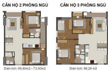Cần tiền bán gấp căn hộ Richmond City, 2PN, mặt đường Nguyễn Xí, tầng trung thoáng mát.