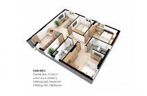 Cần cho thuê căn hộ Sky9 3PN, 2WC full nội thất 7.5 triệu/tháng bao phí