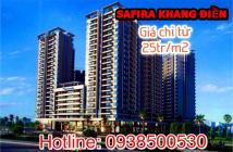 SAFIRA KHANG ĐIỀN - Mở bán đợt 1 giá chỉ 25tr/m2, 60m2/2PN, view sông trực diện, LH ngay 0938500530