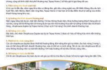 HOT! CHÍNH THỨC CÔNG BỐ 25 SUẤT SHOPHOUSE DUPLEX DỰ ÁN TOPAZ HOME 2 QUẬN 9