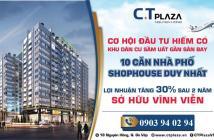 Khu căn hộ nghệ thuật CT Plaza - Giá cạnh tranh nhất khu vực. Chỉ còn vài căn cuối cùng. LH: 0903 94 02 94