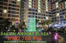 Chỉ với 3,2 tỷ sở hữu ngay CH 1PN Saigon Airport Plaza, view sân bay, có SH. Hotline PKD 0902788995
