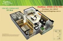 PKD SSG Group - Bán gấp CH 1PN, có nội thất, DT 59m2 Sài Gòn Airport Plaza  giá SIÊU MỀM. Hotline PKD 0908 078 995