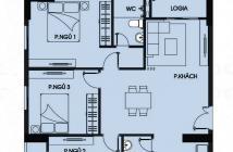 Bán căn hộ tại quận Bình Tân 92.4m2 3pn + 2 wc + 2 ban công giá 1ty8 /căn