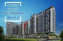 One Verandah 3 phòng  104m2 giá chỉ 6.7 tỷ, tt 20% đến khi nhận nhà, ck 2%.