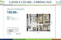 Bán căn hộ Novaland gần sân bay giá tốt, 3 phòng ngủ, 2WC, tầng trung, view hồ bơi, 106m2, layout rộng thoáng. -0968677472