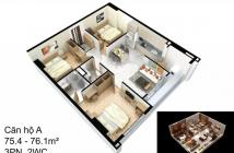 Căn Hộ Gần Gò Vấp 75M2 -3PN, có nội thất cao cấp