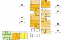 Bán gấp căn hộ M-One Gia Định, Gò Vấp 2PN-2WC diện tích 69.3m2 chênh thấp chỉ 300 triệu