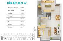 Bán căn hộ 8x Plus, DT 83m2, 2PN, căn gốc, giá 1,8 Tỷ. LH 0902541503