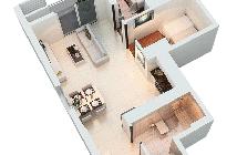 Cho thuê căn hộ tại Dự án The Park Residence, Nhà Bè, Hồ Chí Minh diện tích 61m2 giá 8tr/tháng