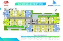 Chính chủ cần cho thuê Căn hộ Hà Đô Riverside Căn 16, Tầng 4 DT: 49m2 giá 5tr/tháng