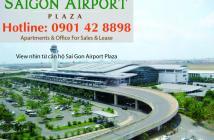 Chỉ 42 triệu/m2 sở hữu ngay CH 2PN - 95m2 Sài Gòn Airport Plaza, giá tốt, tặng NT - LH 0901428898