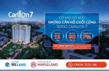Carillon 7 - Tân Phú, bán gấp 2PN+2WC - DT: 71m2 - Giá: 2.3 tỉ (VAT) - Miễn 2 năm PQL