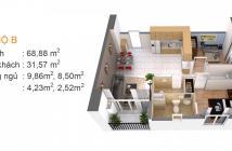 Cho thuê căn hộ chung cư 2PN Gia Hòa quận 9 gía rẻ