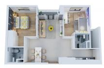 Bán căn hộ quận 8 căn góc 2PN mặt tiền võ văn kiệt quận 8 chỉ 1,7 tỷ ck 3% Lh 0938677909