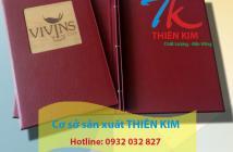 Địa chỉ sản xuất bìa menu da, quyển menu bìa da, cung cấp cuốn menu nhà hàng giá rẻ,