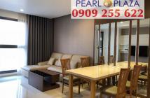 Bán căn hộ 2PN Pearl Plaza_ đủ nội thất, 97m2,  chỉ xách vali vào ở - Hotline PKD 0909 255 622