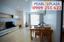 Cchco thuê 3PN Pearl Plaza có diện tích 123m2, tầng cao, full nội thất. Hotline PKD 0909 255 622 Xem Nhà Ngay