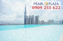Pearl Plaza Q.Bình - Sở hữu ngay căn hộ 1PN chỉ 3,7 tỷ, đang có HĐ thuê, view Landmark 81. Hotline PKD 0909 255 622