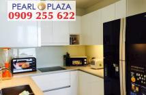 Pearl Plaza Q.Bình - Sở hữu ngay căn hộ 1PN chỉ 3,695 tỷ diện tích 56m2, nội thất dính tường, view Landmark 81. Hotline PKD 0909 2...