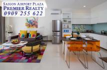 SAIGON AIRPORT PLAZA bán căn hộ 2PN diện tích 95m2 view Tây Nam sân vườn, nội thất đầy đủ. Hotline: 0909 255 622