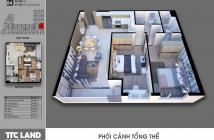 Cần bán gấp căn 2PN Carillon 7, Q. Tân Phú, DT: 80m2, giá bán tốt nhất - Tháng 4/2020 nhận nhà