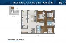 Bán căn hộ 3PN 102m2 có thêm sân vườn tại Newton Residence, nhà mới 100%, giá 6.2 tỷ. Có HĐMB