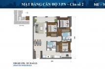 DT 102m2, 3PN, đã làm nội thất cơ bản có bếp, tầng cao chỉ 6.5 tỷ chung cư Newton Residence