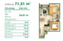 Chung cư depot metro tham lương giá 2 tỷ lô B dt 71,5 m2