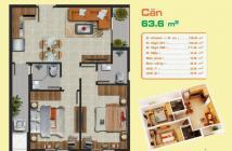 Bán chung cư căn góc 2 phòng ngủ Block B1 Hưng Ngân quận 12, lầu cao, view đẹp, 63,6m2 giá 1,62 Tỷ