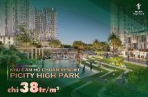 Bán căn hộ Picity High Park 3 phòng ngủ, view nội khu P4, giá gốc CĐT 38tr/m2. CK 9.5%