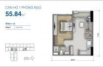 Cần bán căn họ 1pn, 56m2, có HĐ thuê, Botanica premier tháp A- 0901632186