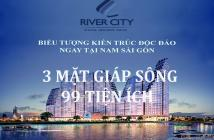 Siêu căn hộ River City Q. 7 - 3 mặt tiền sông - 99 tiện ích 1.39 tỷ/ 2PN. 0937736623