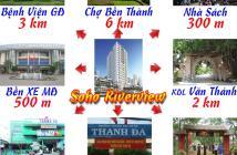 25tr/m2 căn hộ liền kề Q1, bán đảo Thanh Đa, view sông - góp không lãi suất